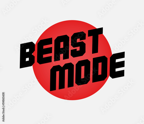 quotbeast mode designquot stock image and royaltyfree vector