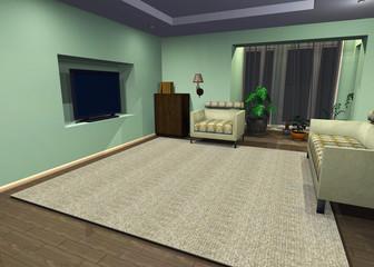 televisione ambiente 3d modello
