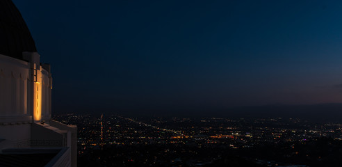 Hollywood at night from Griffith Observatory