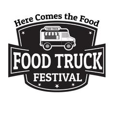 Food truck festival stamp