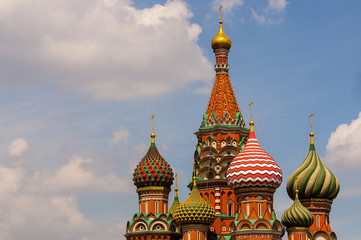 Basil's cathedral at the  Red square in Moscow