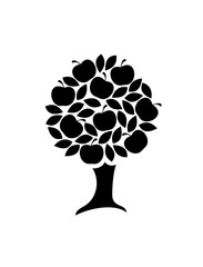 Apple tree icon.