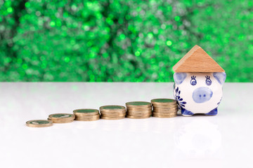 Roof on top of a piggy bank: investment