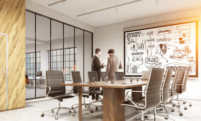 Business sketch in confrenece room