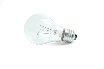 Light bulb isolated on white background, with clipping path