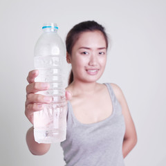 Asia Woman drinking water