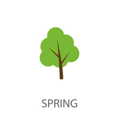 Stylized vector tree picture