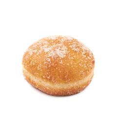 Jam filled doughnut isolated