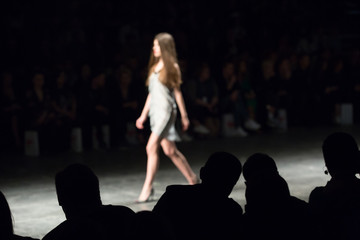 Fashion Show, A Catwalk Event, Blurred On Purpose