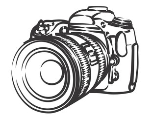 Sketch of professional camera.