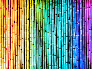 bamboo fence vintage gradient rainbow