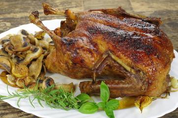 whole roast honey duck