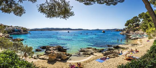 Cala Fornells beach in Majorca