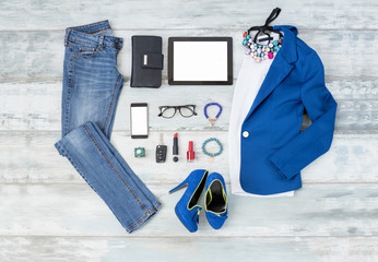 Casual and stylish clothing setup for women