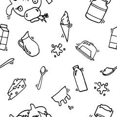 Milk vector icons pattern