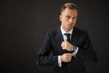 Potrait of handsome business man