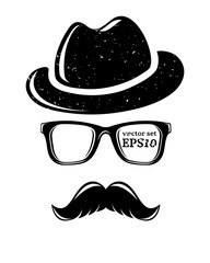 Hipster disguise set