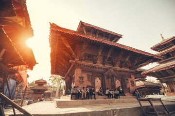 Photo sur Toile Népal Building at Durbar Square, Kathmandu