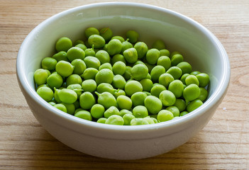 Green peas on a plate
