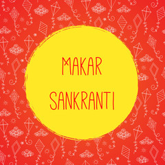 Marar sankranti celebration card with kites