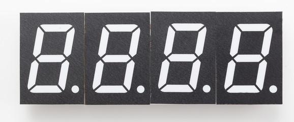 digital display electronic clock layout