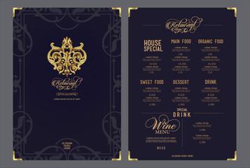 Premium vector restaurant menu.