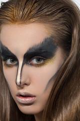 beauty woman creative makeup black Swan