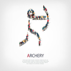 people sports archery vector