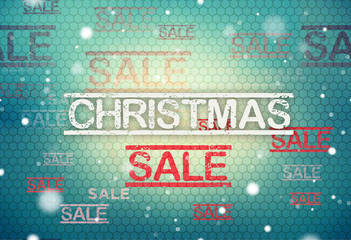 christmas sale modern and retro vintage mix structure background