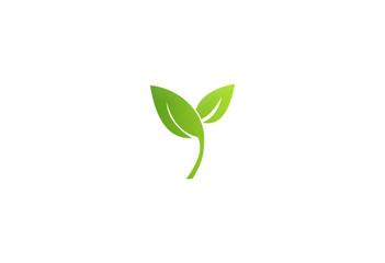 green leaf seed nature logo