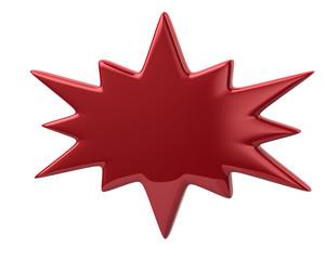 3d illustration of red bursting icon