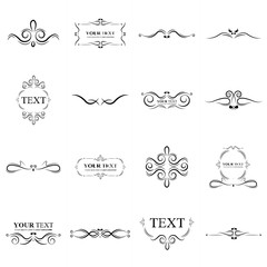 Ornate frames elements set