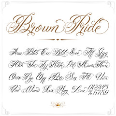 Brown Pride Tattoo Font