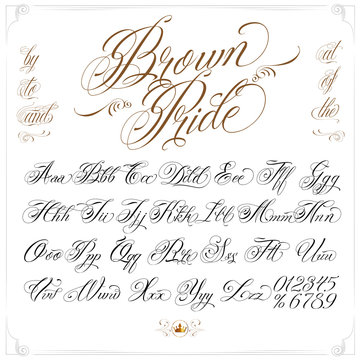 Brown Pride Tattoo Font Set
