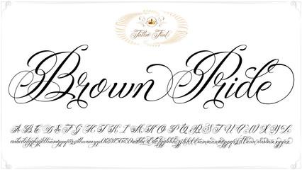 Brown Pride tattoo lettering