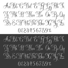 Light tattoo lettering set