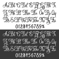 Tattoo lettering set