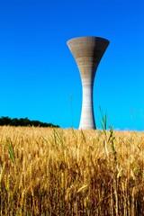 château d'eau dans blés 1