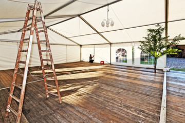 Putting Up the Big Tent