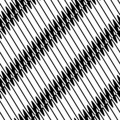 Seamlessly repeatable geometric pattern - Abstract monochrome ba