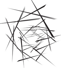 Geometric abstract art. Edgy, angular rough texture. Monochrome,