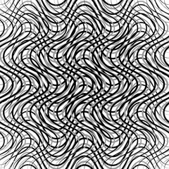 Mesh of wavy, billowy, undulating lines. Repeatable geometric mo