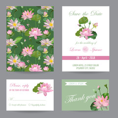 Wedding Invitation. Congratulation Card Set. Save the Date. Watercolor style