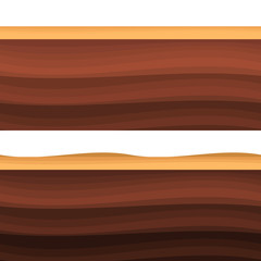 Underground layers of earth, seamless ground