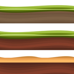 Layers of grass with Underground