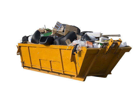 rubbish container isolated on white