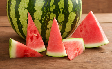 water melon on a wooden background