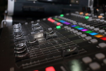 background of audio mixer