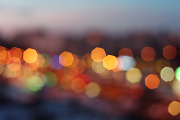 Night urban lights