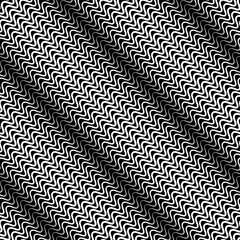 Wavy diagonal parallel lines. seamless, repeatable monochrome pa